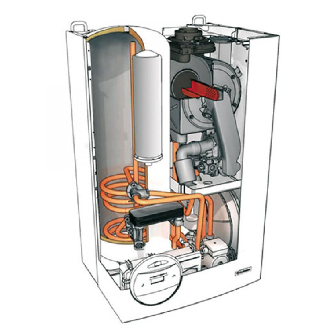 Схема газового конденсационного котла